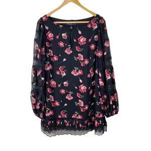 WHBM Floral Dress White House Black Market Size 8